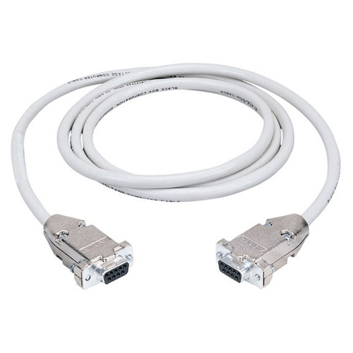Box Serial Null Modem Cable - DB-9 Female Serial - DB-9 Female Serial - 50ft - Beige