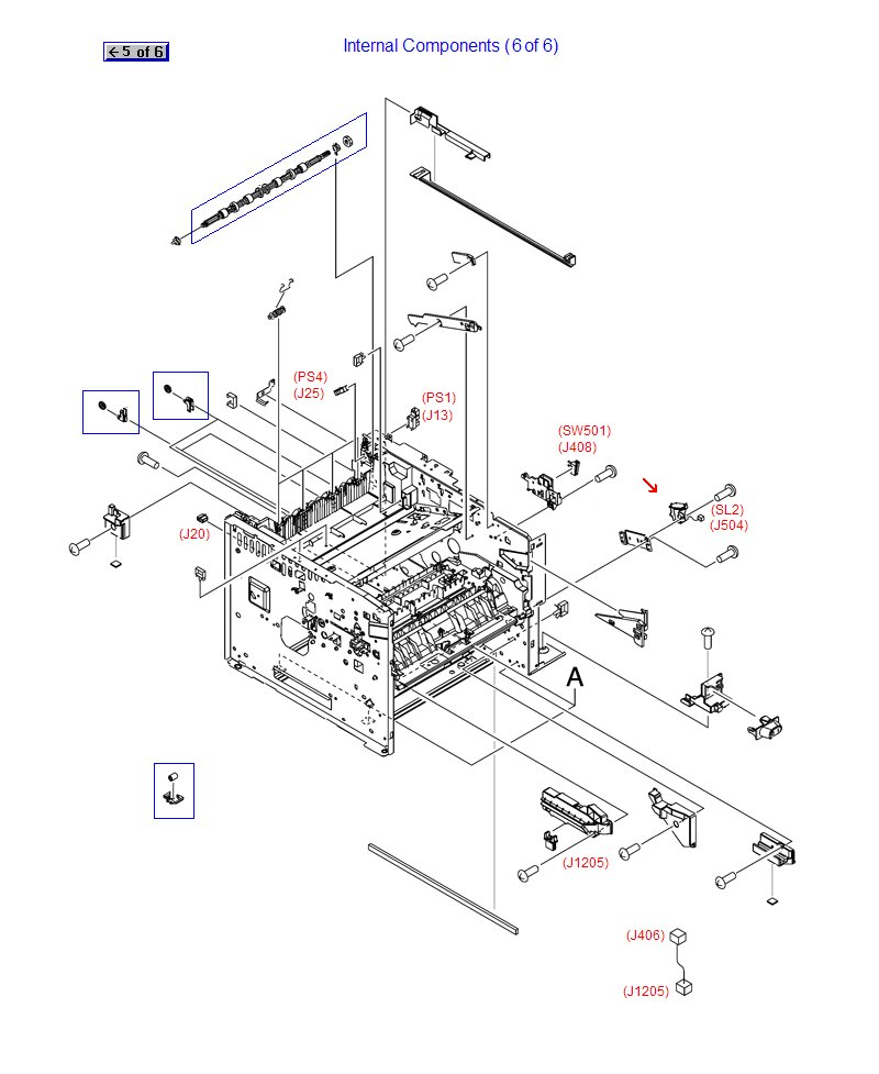 Rk2 1492 000cn Hp Laserjet M521 M525 M3027 M3035 P3005 P3015 Tray 2