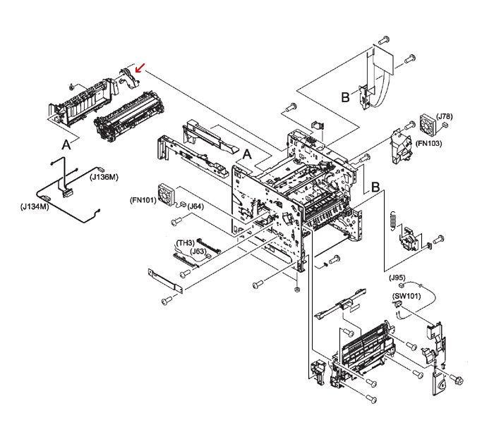 Duplexing pendulum assembly - Gear assembly that transfers power from main motor to run duplexing capability