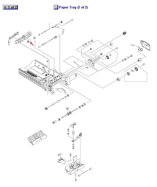 LaserJet 4200 4240 4250 4300 4345 4350 5200 M4345 M5035 P4014 P4015 P4515 Color LaserJet 4700 4730 CM4730 CM6040 CP3525 CP4005 CP6015 Feed/Separation Roller