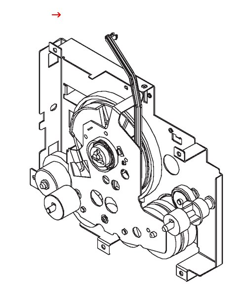 Main drive assembly - Main gear assembly on right side of printer