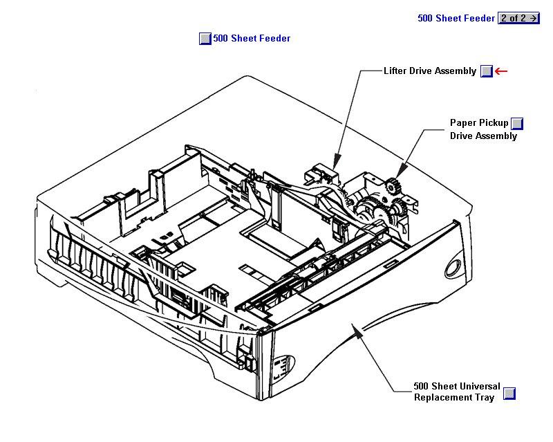 LaserJet 4240 4250 4350 Lifter Drive Assembly