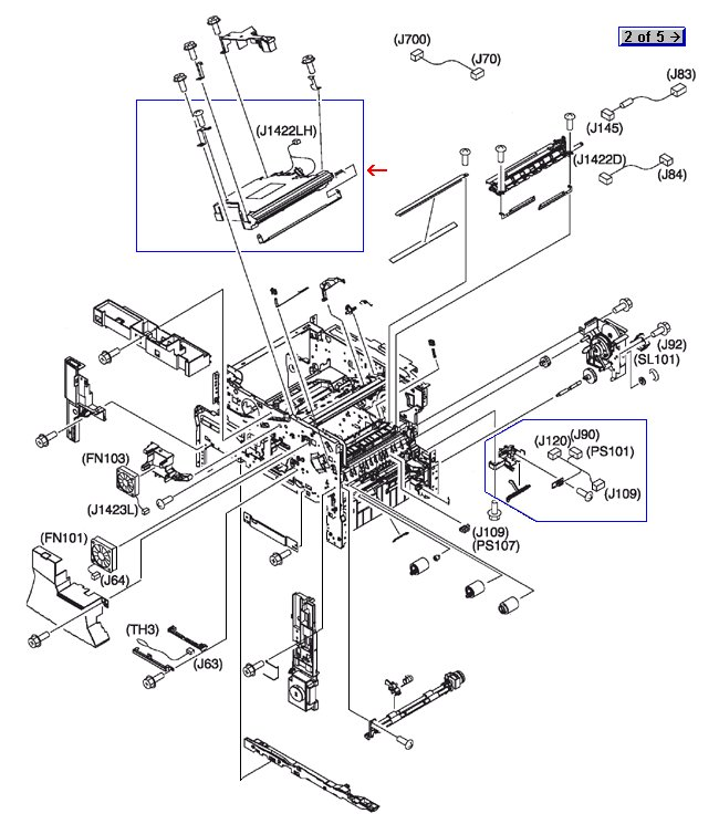 Laser/scanner assembly