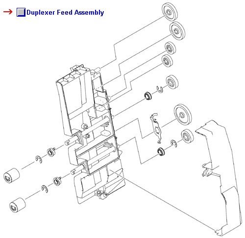Color LaserJet 4700 4730 CM4730 CP4005 Duplexer Feed Assembly (Mounted on ETB)