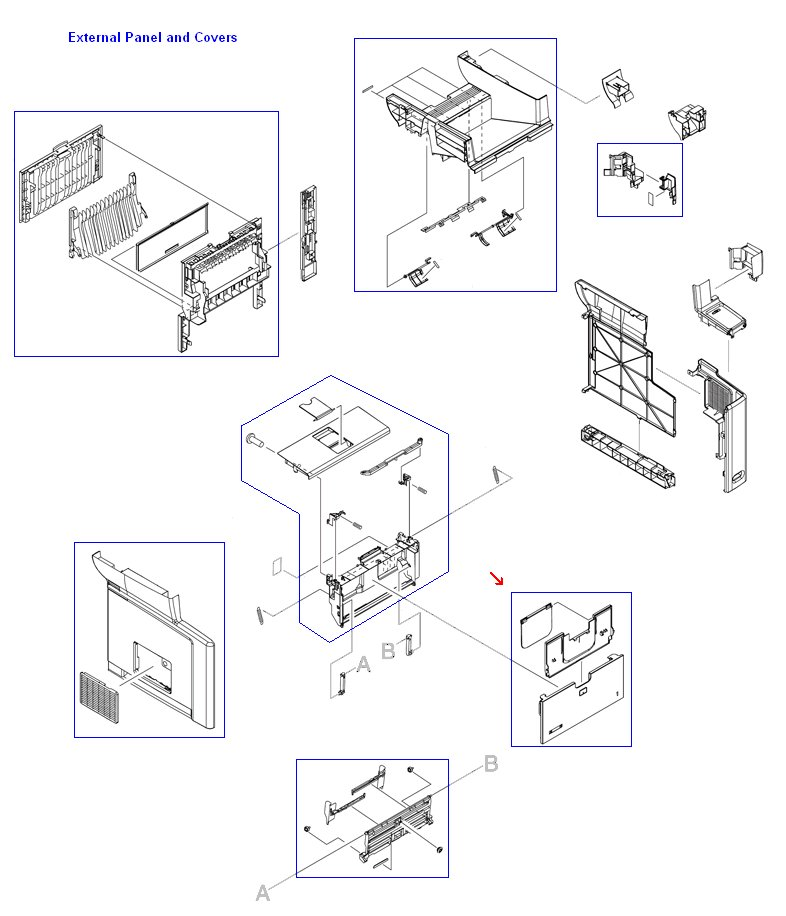Multi-purpose input tray cover assembly - Includes pull-out and flip-out tray extensions