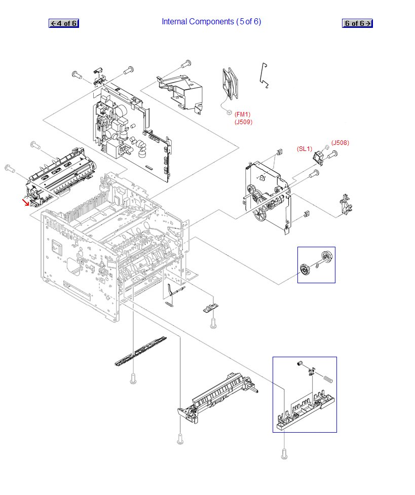 Fuser Assembly - For 110 VAC - Bonds toner to paper with heat - Includes 20-tooth gear