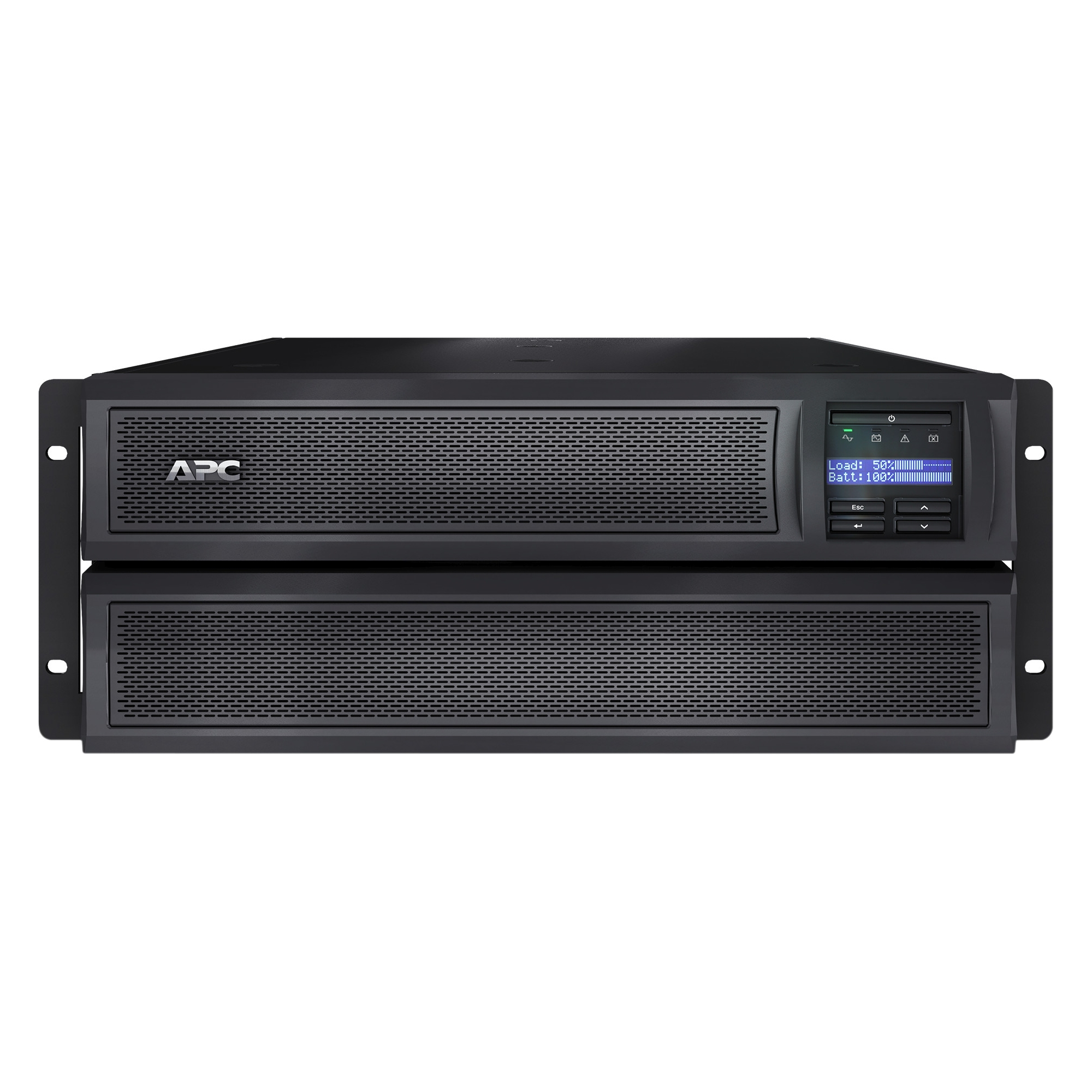 Smart-UPS X 3000 Rack/Tower LCD - UPS (rack-mountable / external) - AC 120 V - 2700 Watt - 3000 VA - Ethernet 10/100 RS-232 USB - output connectors: 10 - 2U - Canada United States - black - with APC UPS Network Management Card AP9631 - for P/N: SUA2200