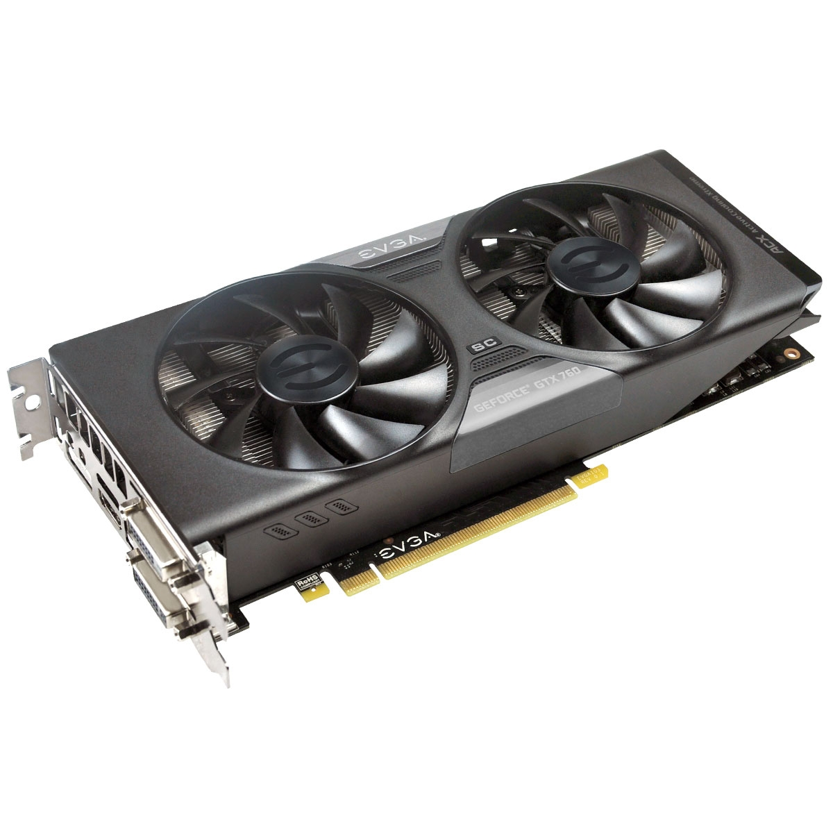 GeForce GTX 760 Graphic Card - 1072 MHz Core - 2 GB GDDR5 SDRAM - PCI Express 3.0 x16 - 6008 MHz Memory Clock - 4096 x 2160 - SLI - Fan Cooler - DirectX 11.1 DirectCompute 5.0 OpenGL 4.3 OpenCL - HDMI - DisplayPort - DVI