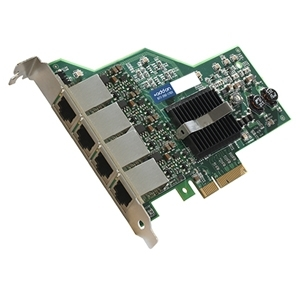 HP 593722-B21 Comparable 10/100/1000Mbs Quad Open RJ-45 Port 100m PCIe x4 Network Interface Card - Cost effectively add additional ports and connectivity