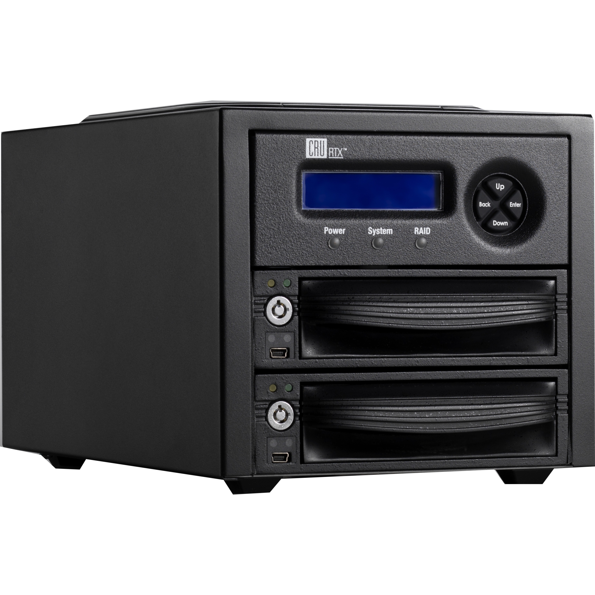 RTX Secure 222-3QR DAS Array - 2 x HDD Supported - Serial ATA/150 Controller - 2 x Total Bays - FireWire/i.LINK 800 USB 3.0 eSATA Tower