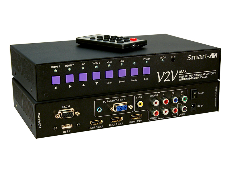 6PORT MULTI FORMAT SWITCHER SCALER & CONVERTER WITH IR RC