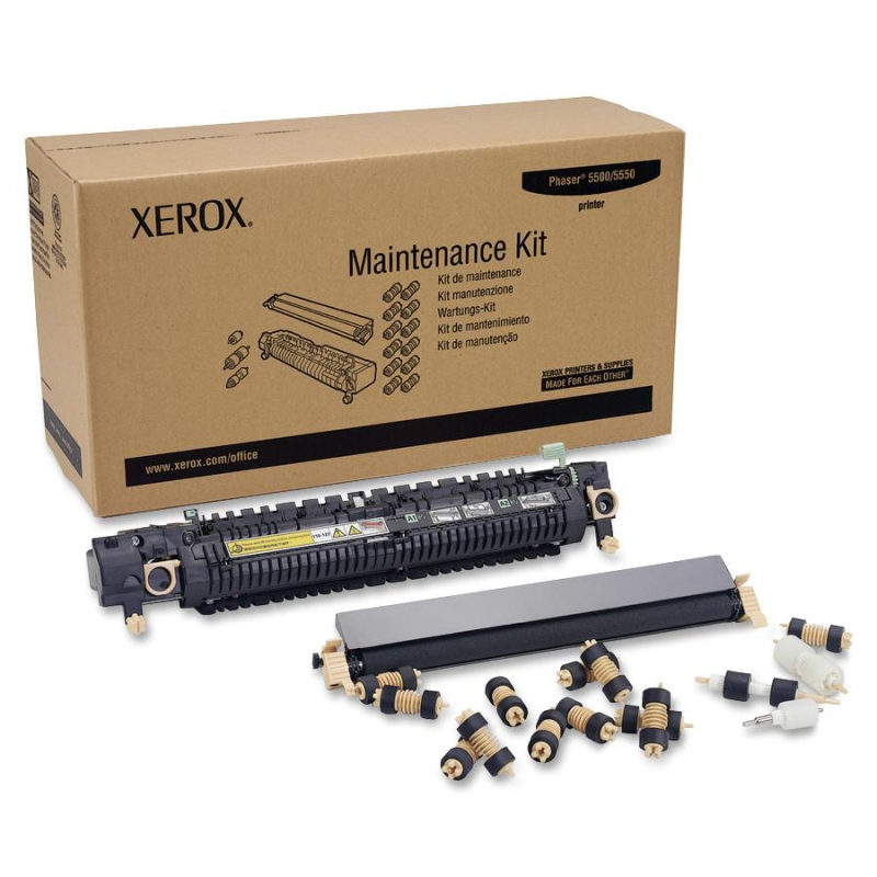 Phaser 5500 5550 Maintenance Kit (110V) (Includes Fuser Transfer Roller 15 Feed Rollers) (300000 Yield)