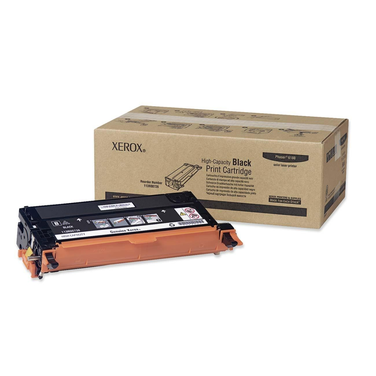 High Capacity - black - original - toner cartridge - for Phaser 6180DN 6180MFP/D 6180MFP/N 6180N -