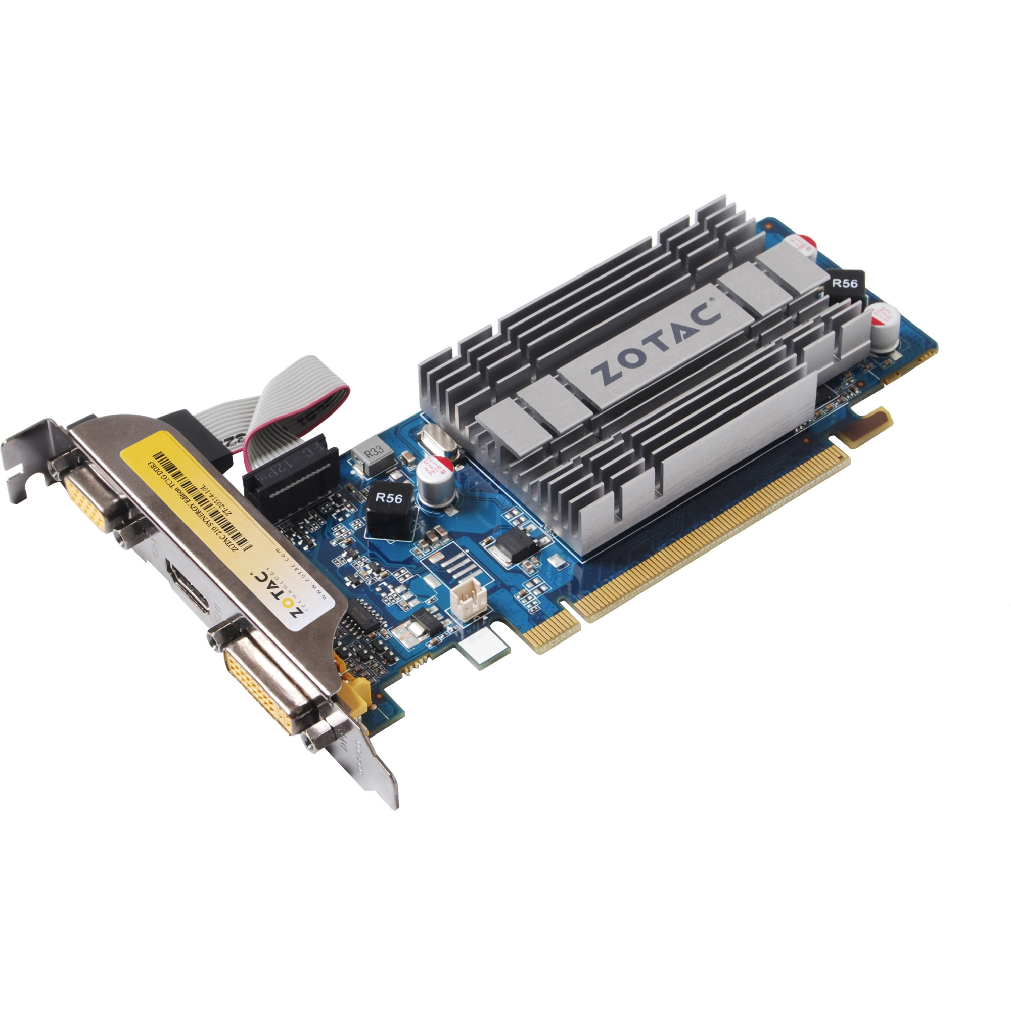 GeForce 210 Graphic Card - 520 MHz Core - 1 GB DDR3 SDRAM - PCI Express 2.0 x16 - 1200 MHz Memory Clock - 2560 x 1600 - Passive Cooler - DirectCompute DirectX 10.1 OpenGL 3.2 - HDMI - DVI - VGA