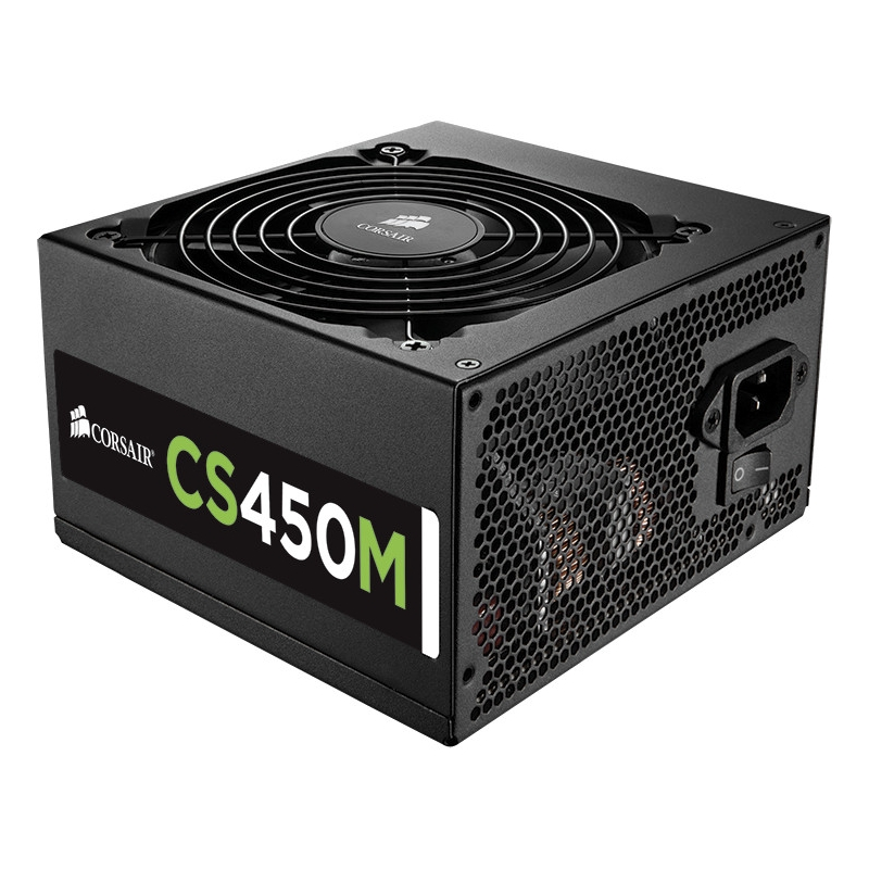 CS Series Modular CS450M - 450 Watt 80 PLUS Gold Certified PSU - 110 V AC 220 V AC Input Voltage - Internal - Modular - 92% Efficiency - 450 W