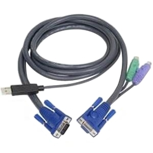 Intelligent KVM Cable 2L-5502UP - Keyboard / video / mouse (KVM) cable - 4 pin USB Type A HD-15 (M) - 6 pin PS/2 HD-15 - 6 ft