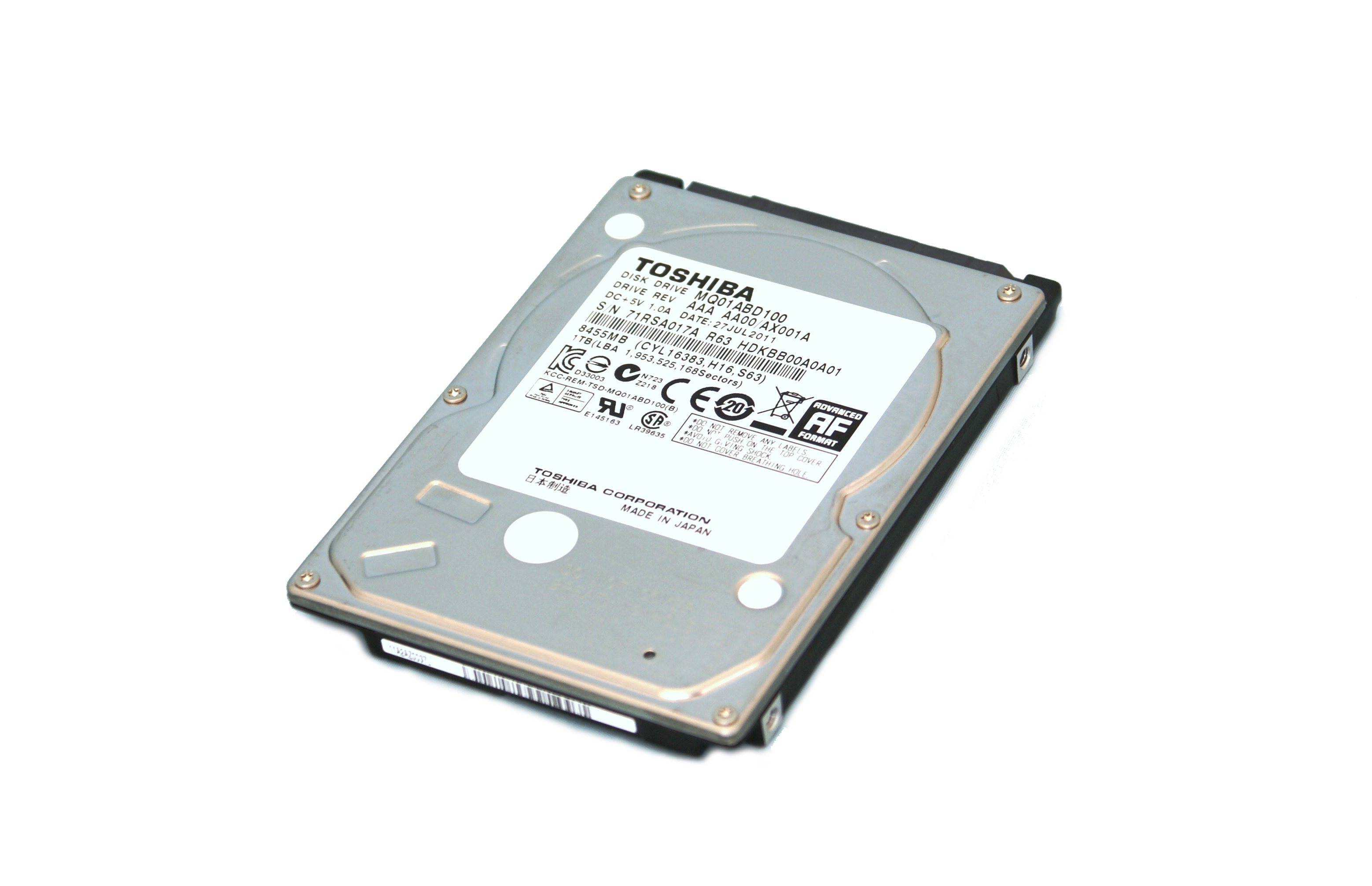 Hard drive - 500 GB - internal - 2.5 inch - SATA 3Gb/s - 5400 rpm - buffer: 8 MB