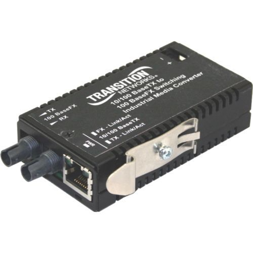 Networks Industrial Mini M/E-ISW-FX-01 Media Converter - 1 x Network (RJ-45) - 1 x LC Ports - 10/100Base-TX 100Base-FX - Wall Mountable Rack-mountable