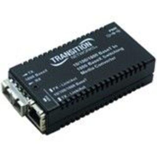 Stand-Alone - Fiber media converter - GigE - 10Base-T 1000Base-LX 100Base-TX 1000Base-T - RJ-45 / SC single-mode - up to 6.2 miles - 1310 nm