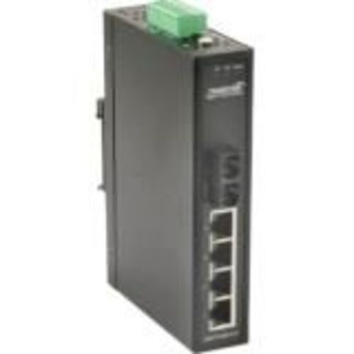Hardened - Switch - unmanaged - 4 x 10/100 + 1 x 100Base-FX - DIN rail mountable wall-mountable