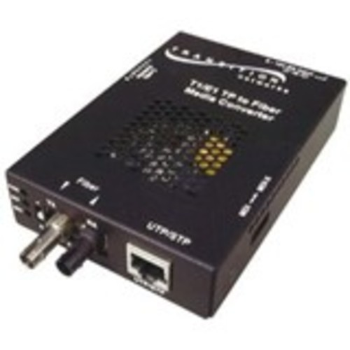 Stand-Alone Remotely Managed - Fiber media converter - RJ-48 / SC multi-mode - up to 1.2 miles - T-1/E-1 - 850 nm