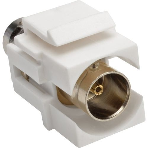 BNC Keystone Panel Mount Coupler All-in-One Coaxial F/F 75 Ohms - Coaxial coupler - BNC (F) to BNC (F) - white