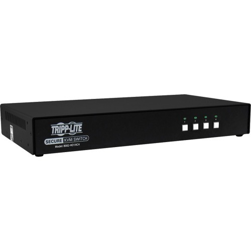 2-to-1 HDMI Switch Secure KVM Switch HDMI to DisplayPort - 4-Port 4K NIAP PP3.0 Certified Audio CAC Single Monitor - KVM / audio switch - 4 x KVM / audio - 1 local user - desktop - TAA Compliant