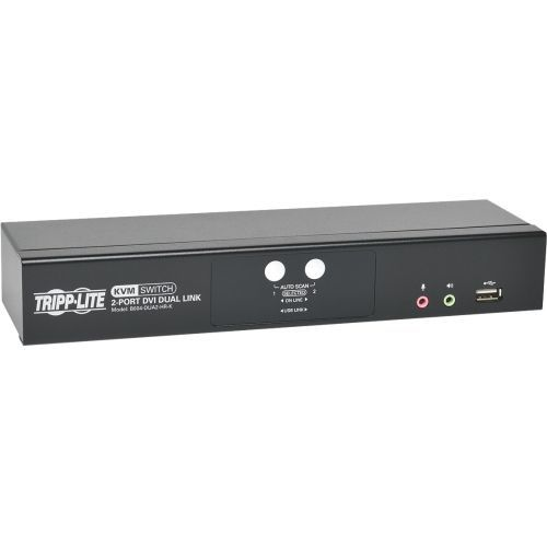 Lite 2-Port DVI Dual-Link / USB KVM Switch with Audio and Cables - 2 Computer(s) - 1 Local User(s) - 2560 x 1600 - 6 x USB - 3 x DVI - Desktop
