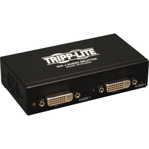 2-Port DVI Single Link Video / Audio Splitter / Booster DVIF/2xF TAA - Video/audio splitter - 2 x DVI / audio - desktop