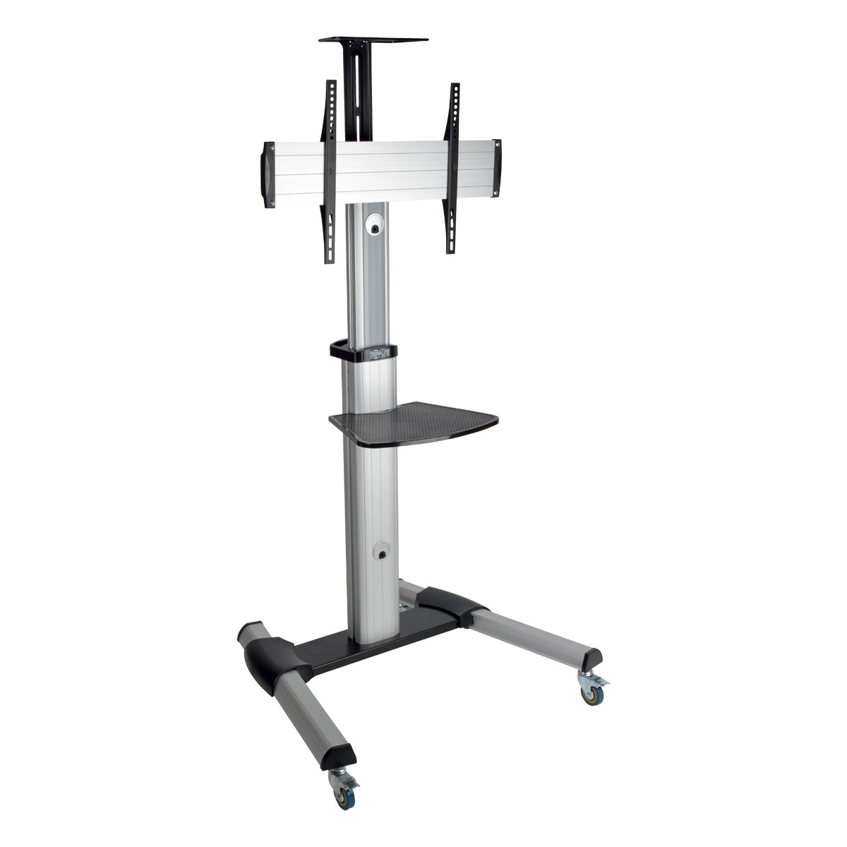 Mobile TV Floor Stand Cart Height-Adjustable LCD 32-70 inch Display - Cart for LCD display - aluminum steel - black silver - screen size: 32 inch -70 inch - floor-standing