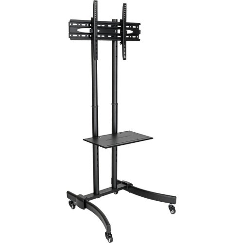 Mobile TV Floor Stand Cart Height-Adjustable LCD 37-70 inch Displays - Cart for LCD / plasma panel / notebook / Blu-ray / webcam - aluminum steel - black silver - screen size: 37 inch -70 inch