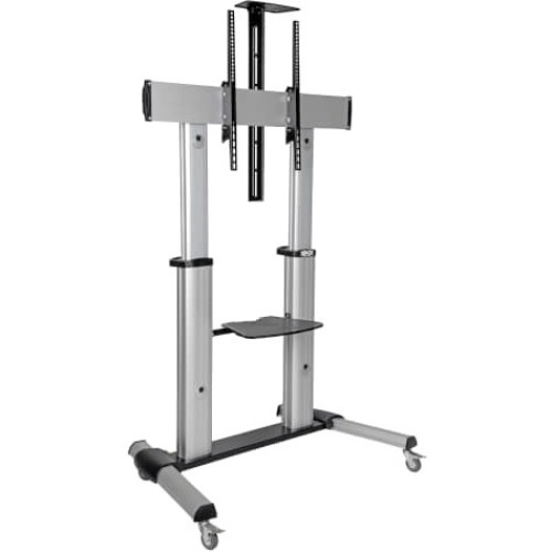 Mobile Floor Stand Cart for 60inch -100inch Monitors Height-Adjust Retail