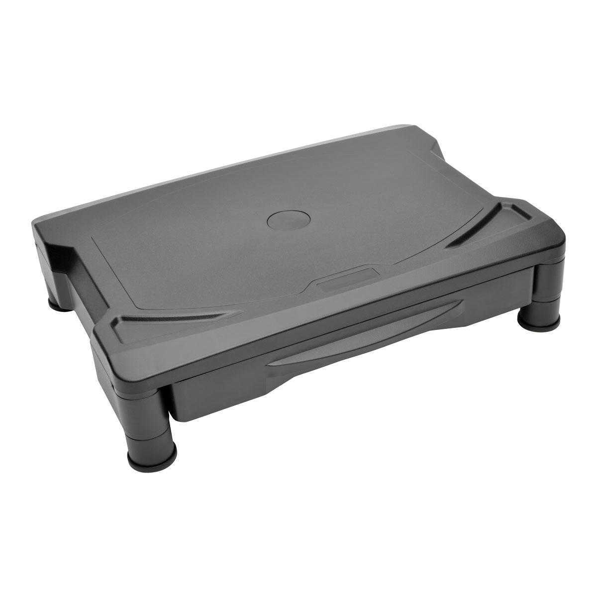 LCD Monitor Riser Printer Monitor Stand with Storage Drawer 4.7In - Printer or monitor stand with drawer - black