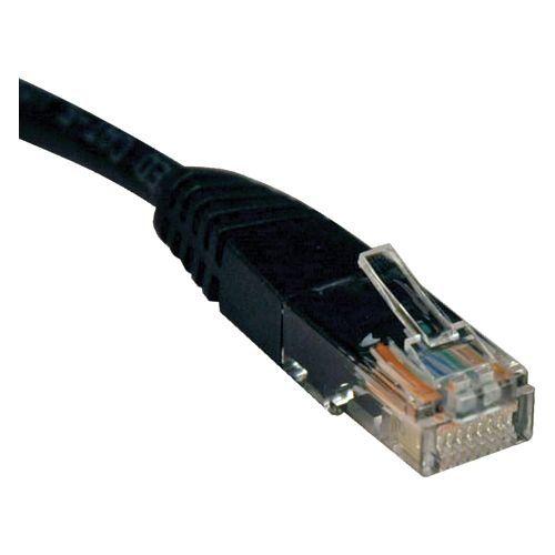 6ft Cat5e / Cat5 350MHz Molded Patch Cable RJ45 M/M Black 6 - Patch cable - RJ-45 (M) to RJ-45 (M) - 6 ft - UTP - CAT 5e - molded stranded - black