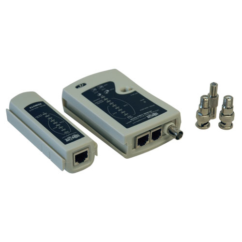 Lite Multi-Functional Network Cable Tester - RJ-45 Female Network  RJ-11 Female Phone