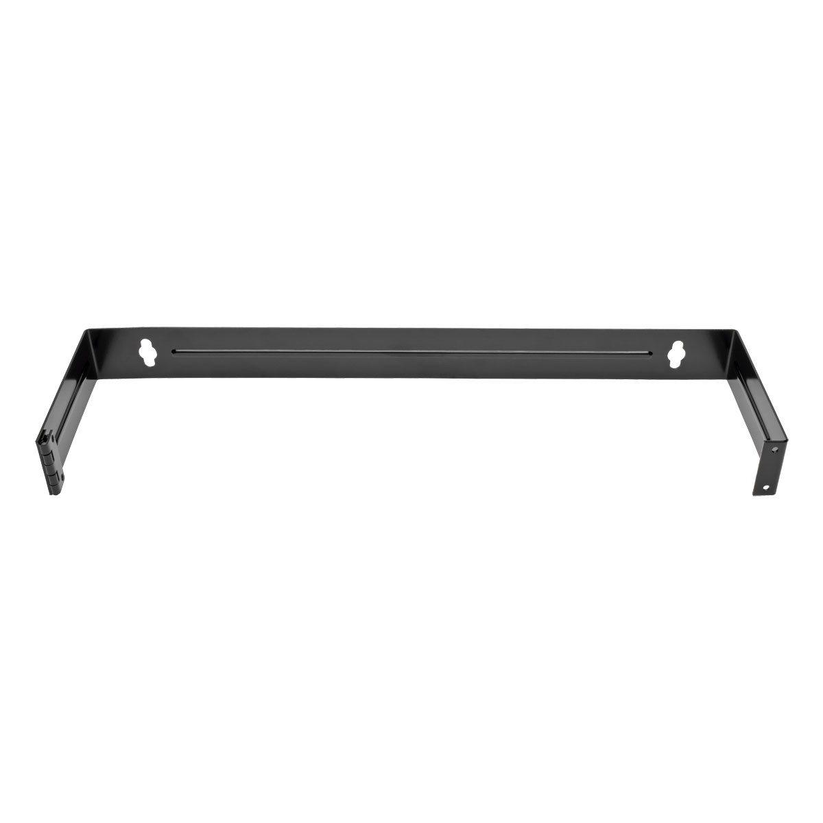 1U Hinged Wallmount Patch Panel Mounting Bracket - Patch panel mount bracket - black - 1U - 19 inch