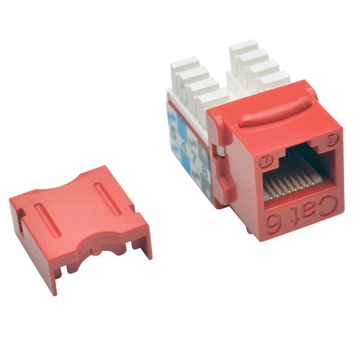 Cat6/Cat5e 110 Punch Down Keystone Jack - Modular insert - RJ-45 - red