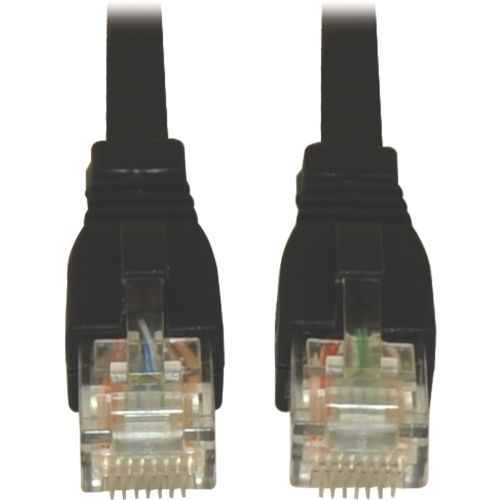 Lite 7ft Augmented Cat6 Cat6a Snagless 10G Patch Cable RJ45 Black - Category 6a for Network Device - 1.25 GBps - Patch Cable - 7 ft - 1 x RJ-45 Male Network - 1 x RJ-45 Male Network - Copper - Black