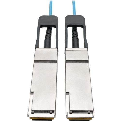 QSFP+ TO QSFP+ ACTIVE OPTICAL CABLE - 40GB AOC M/M AQUA 1 M (3 FT.)