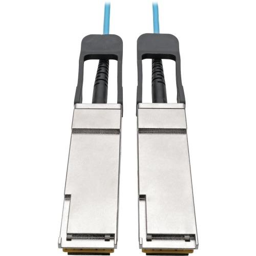 QSFP+ TO QSFP+ ACTIVE OPTICAL CABLE - 40GB AOC M/M AQUA 10 M (32.8 FT.)