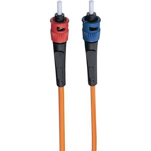 1M Duplex Multimode 62.5/125 Fiber Optic Patch Cable ST/ST 3 feet 3ft 1 Meter - Patch cable - ST multi-mode (M) to ST multi-mode (M) - 3 ft - fiber optic