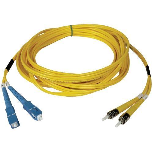 2M Duplex Singlemode 8.3/125 Fiber Optic Patch Cable SC/ST 6 6ft 2 Meter - Patch cable - SC single-mode (M) to ST single-mode (M) - 2 m - fiber optic - 8.3 / 125 micron - riser - yellow