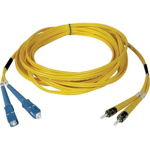 15M Duplex Singlemode 8.3/125 Fiber Optic Patch Cable SC/ST 50 50ft 15 Meter - Patch cable - SC single-mode (M) to ST single-mode (M) - 15 m - fiber optic - 8.3 / 125 micron - riser - yellow