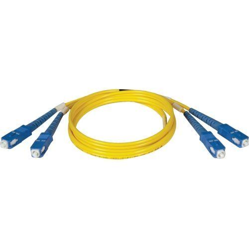 3M Duplex Singlemode 8.3/125 Fiber Optic Patch Cable SC/SC 10 10ft 3 Meter - Patch cable - SC single-mode (M) to SC single-mode (M) - 3 m - fiber optic - 8.3 / 125 micron - riser - yellow