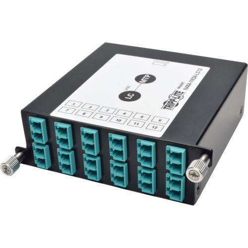 100Gb/120Gb to10Gb Breakout Cassette 24-Fiber MTP/MPO 12 LC - Fiber optic cassette - LC x 24 - black