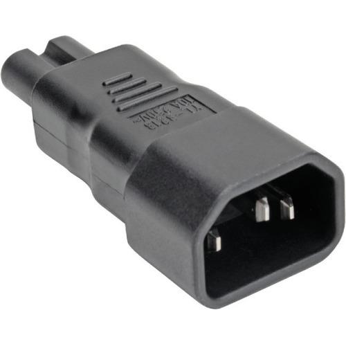 IEC C14 to IEC C5 Power Cord Adapter - 10A 250V Black - Power connector adapter - IEC 60320 C14 to IEC 60320 C5 - AC 100-250 V - 10 A - black - North America