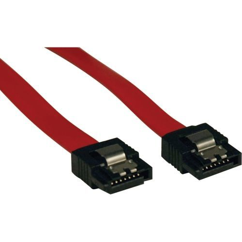 8in Serial ATA SATA Latching Signal Cable 7Pin / 7Pin M/M 8 inch - SATA cable - Serial ATA 150/300/600 - SATA (F) straight to SATA (F) straight - 7.9 in - latched - red