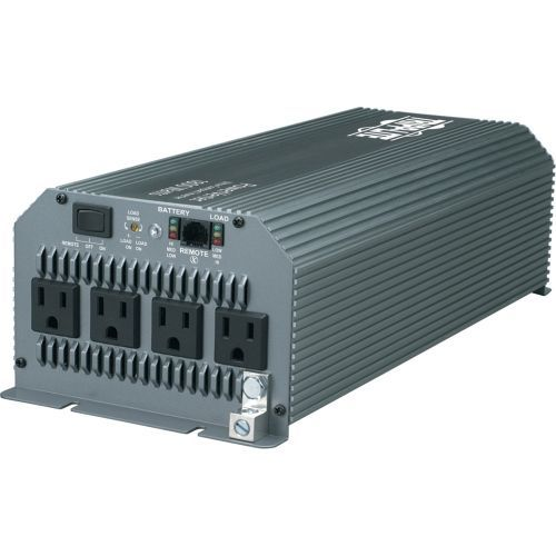Lite PowerVerter 1800W Compact Inverter with 4 Outlets - Input Voltage: 12 V DC - Output Voltage: 120 V AC - Continuous Power: 1.80 kW
