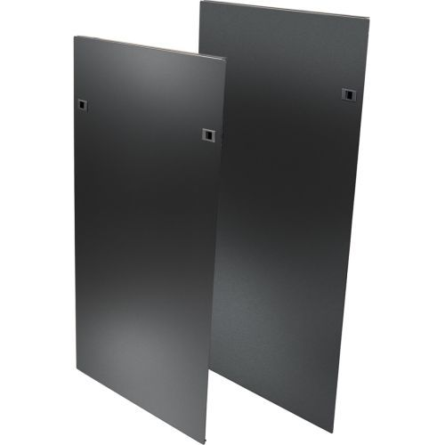 Heavy Duty Side Panels for SRPOST50HD Open Frame Rack with Latches - Rack panel kit - side - black - 50U