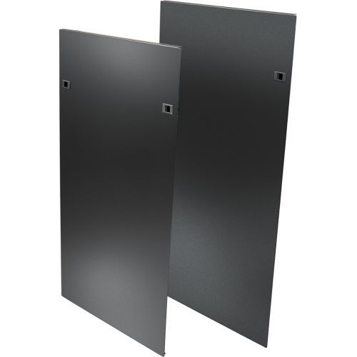 Heavy Duty Side Panels for SRPOST52HD Open Frame Rack with Latches - Rack panel kit - side - black - 52U